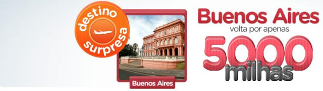 Passagem de volta de Buenos Aires com cinco mil milhas