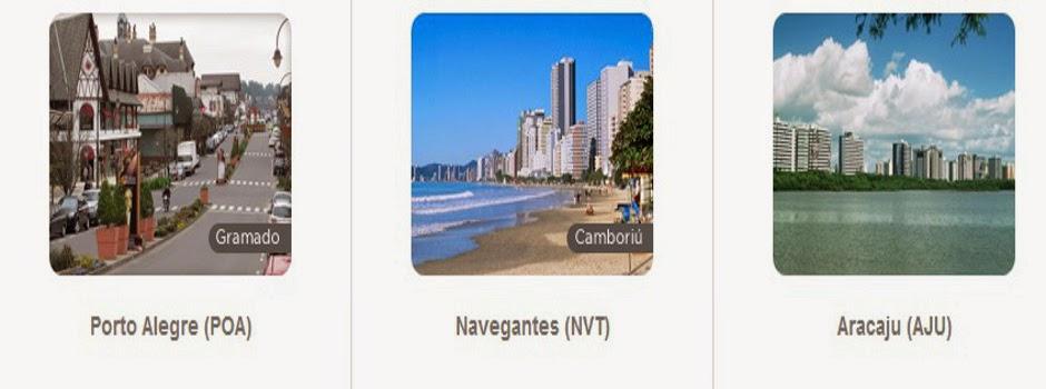 Promoção de milhas! Passagem de ida e volta para Porto Alegre, Aracaju e Navegantes com oito mil pontos