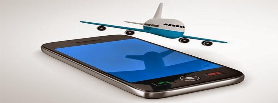 TAM e LAN iberam dispositivos móveis no modo avião