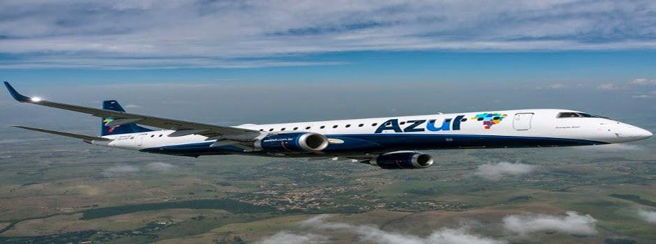 Azul terá voos  sem escalas de Guarulhos para Joinville, Maringá e Cascavel