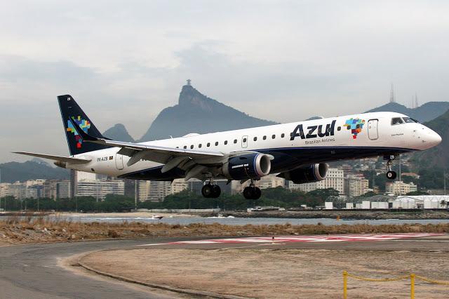 Azul vende as passagens dos voos diretos do Santos Dumont para Campo Grande. Companhia terá segunda frequência sem escalas Rio/Goiânia