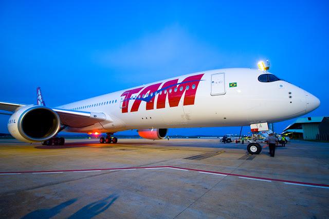 Confins recebe o primeiro Airbus A350 da TAM
