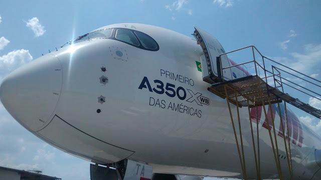 TAM realiza voo inaugural com o novo Airbus A350