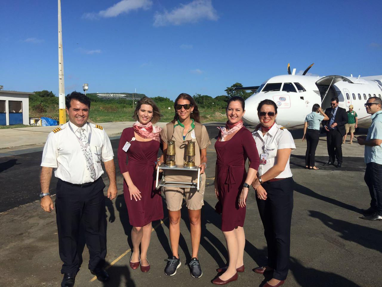 Flyways realiza voo histórico com a chama Olímpica