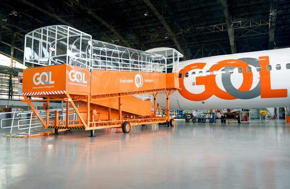 Conheça o centro de manutenção de aeronaves da Gol