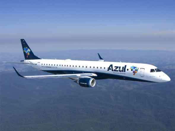 Azul inicia venda das passagens dos voos de Jaguaruna com jatos da Embraer