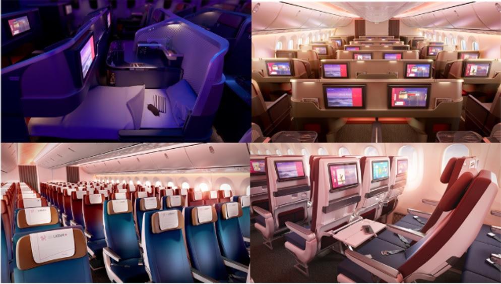 Vídeo mostra o interior das novas cabines das aeronaves da LATAM; assista
