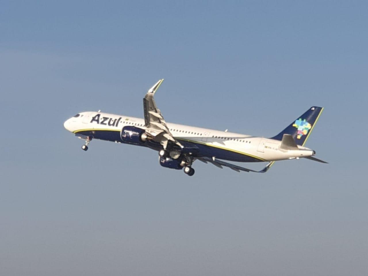 A321 da Azul realiza 1º voo entre Campinas e Salvador; Veja quais cidades vão receber nova aeronave da companhia