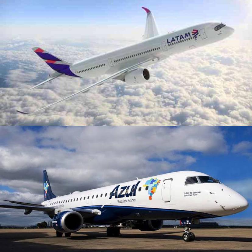 Acesse a lista das cidades que terão voos compartilhados pela Azul e LATAM