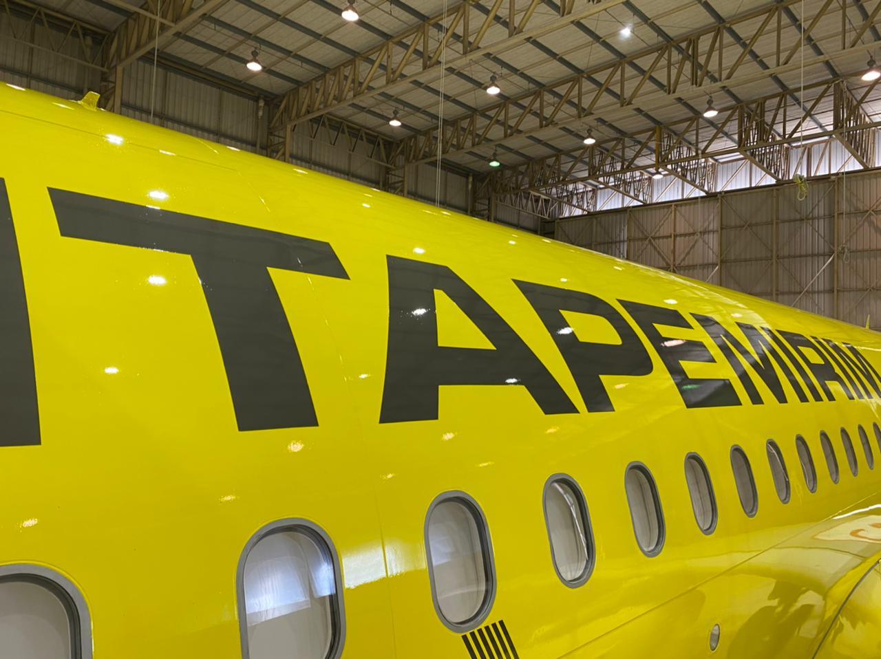 Veja fotos e vídeo da pintura da 1ª aeronave da ITA Linhas Aéreas