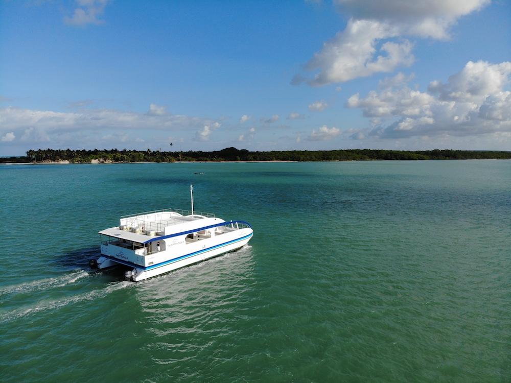 Sambaqui é opção de turismo náutico em Barra do Cunhaú (RN)